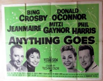 Anything Goes (1956) Bing Crosby  Film Poster - UK Quad